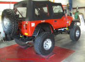 97 Jeep Wrangler TJ with Teraflex, super swamper IROKs, mickey thompsons,superlift,poison spider and more..