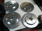 Speed Engineering and Dyno - Zinc coated slotted and drilled rotors